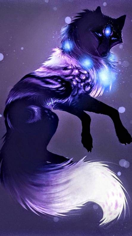 galaxy wolf   anime wolf fantasy art wolf pictures