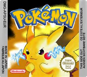 Pokemon Yellow Cartridge Label European Release