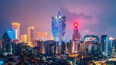 Night Aerial Metropolis Views Cities Lights Architecture