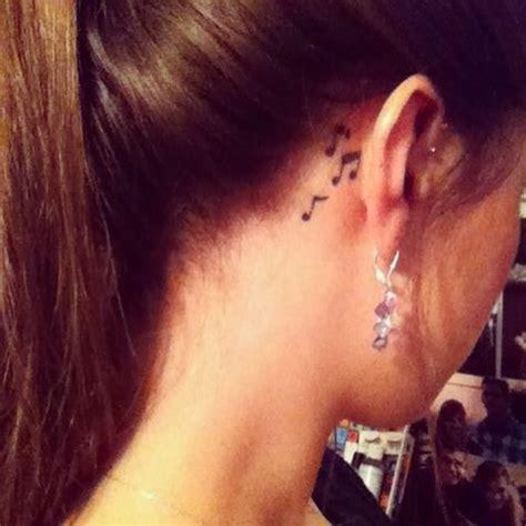 note tattoo   ear  tattoo ink  uploads pinterest sharpie tattoos