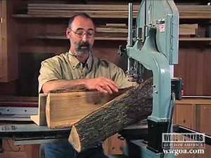 Woodworking Project Tips: Band Saw - Cutting a Log on a