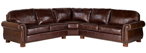 thomasville leather sofa with chaise living room benjamin 3 leather sectional