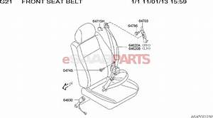 Saab Seat Belt Diagram  Saab  Auto Parts Catalog And Diagram