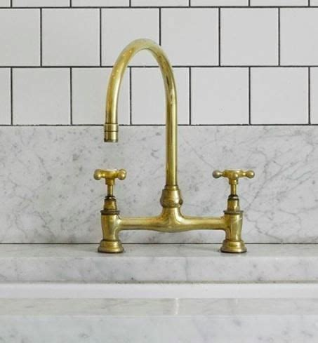 Unlacquered Brass Bar Faucet by Barber Wilsons In Unlacquered Brass Brass