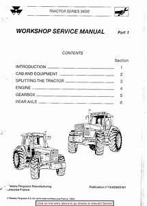Massey Ferguson Mf 3655 Tractor Service Repair Manual