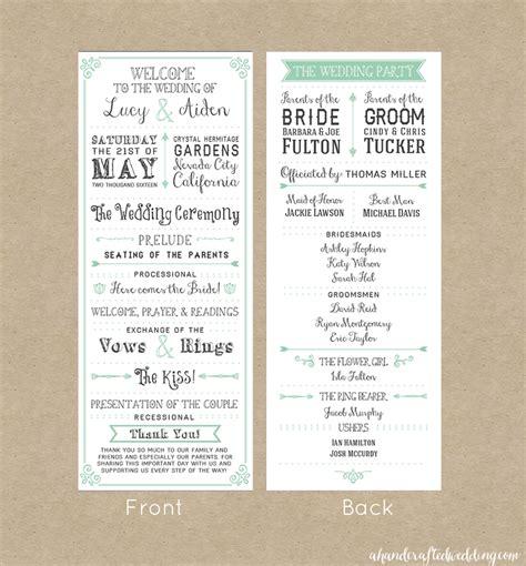 Free Downloadable Wedding Program Template That Can Be Printed Free Downloadable Wedding Program Template That Can Be