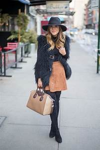How to Wear a Suede Skirt 2018 | FashionGum.com
