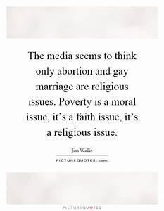 Moral Issue Quo... Poverty And Religion Quotes