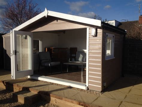 summerhouse  bi fold doors  wooden workshop