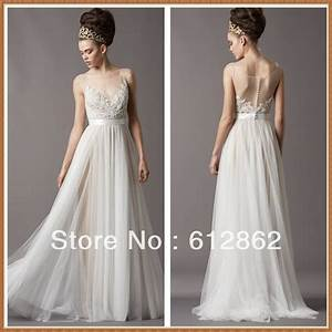 aliexpresscom buy elegant bateau illusion tulle With lace top tulle skirt wedding dress