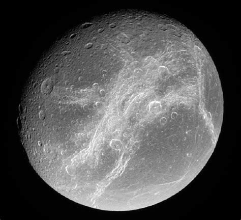 Saturn's moon Dione | Anne's Astronomy News