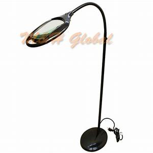 flexible 3 diopter magnifying lamp floor stand gooseneck With gooseneck floor lamp with magnifier