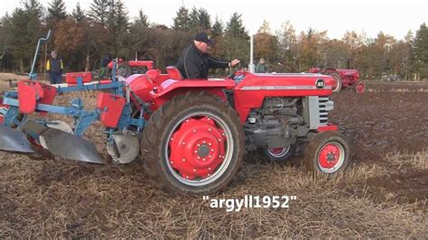 Massey Ferguson 165 @ Forfar Ploughing 2012a New Edit