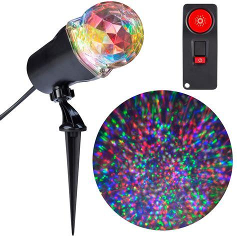 holiday light projector lowes shop gemmy lightshow swirling multicolor led kaleidoscope
