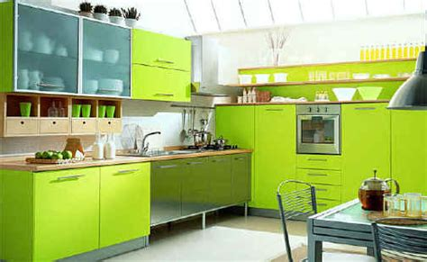 Lime Green Kitchens  Panda's House