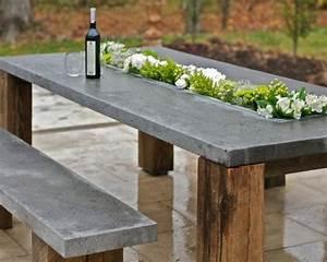 Beton Tisch Diy : tisch beton holz bepflanzt originelle idee deko beton ~ A.2002-acura-tl-radio.info Haus und Dekorationen