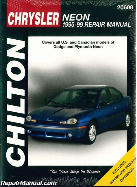 car service manuals pdf 1995 dodge neon seat position control used chilton dodge neon 1995 1999 repair manual