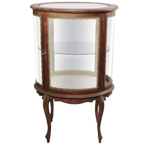 Curved Glass Curio Cabinet By Chintaly by X Jpg