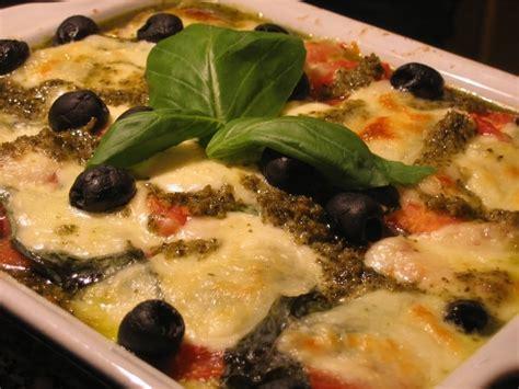 hervé cuisine lasagne recette de lasagnes tomates mozzarella au pesto la