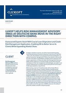 Case Study Deutsche Bank Compas Banking Luxoft For Risk