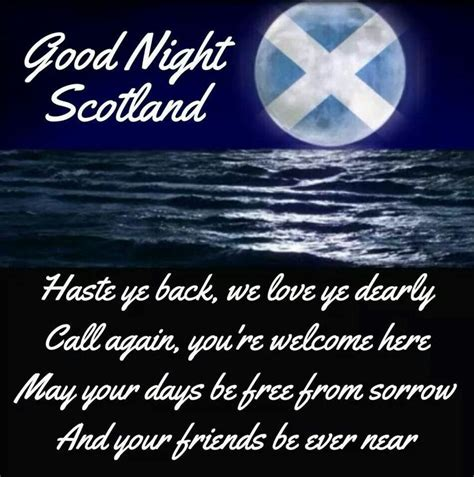 good night scotland scottish sayings proverbs poems
