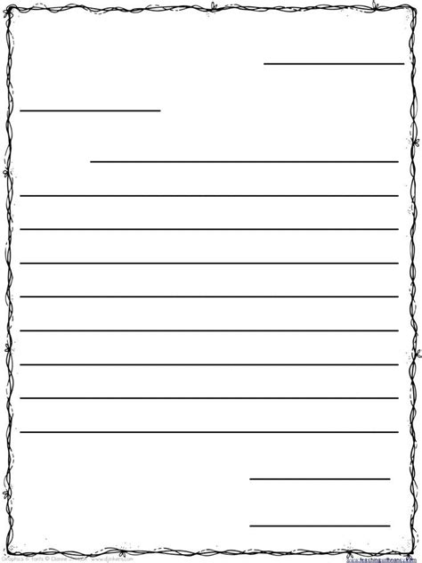 free letter templates letter template for all about letter examples 21856 | friendly letter template for kids 3rd grade templates within letter template for kids