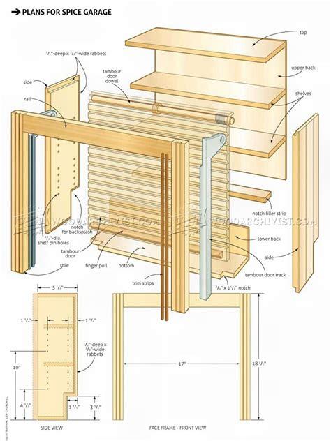 wooden spice rack plans woodarchivist