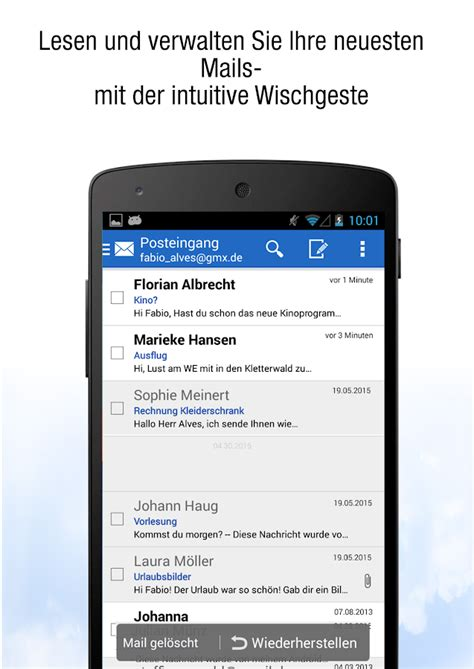 Gmx Mobile Email by Gmx Mail Android Apps Auf Play