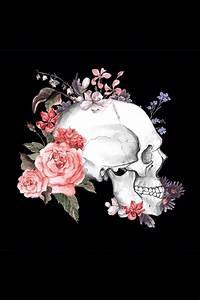 Skull & flowers | Skeleton + Skull + Bones | Pinterest ...