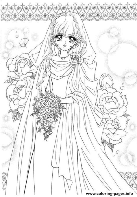 glitter force wedding dress  flowers coloring pages printable