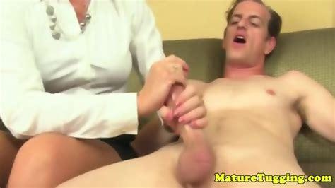 mature cfnm milf tugging hard cock eporner