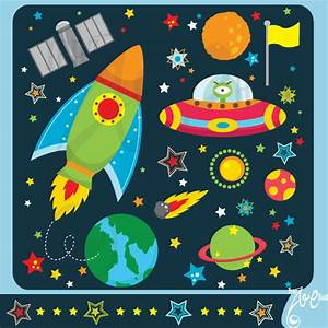 Outer space clipart:OUTER SPACEclip art pack