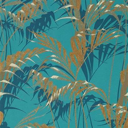 Gold Teal Palm Sanderson Interiors Glasshouse Zoom