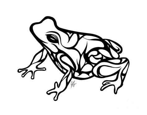 tribal ribbet drawing  jamie lynn
