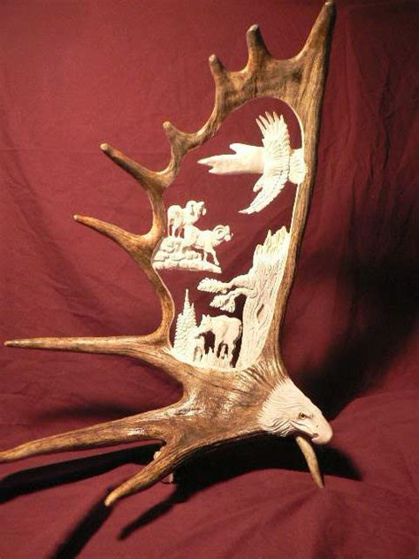 antler carving naturally wild rustic artistry