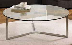Inspiration gallery from beautifully crafted glass display for Glass top circle coffee table