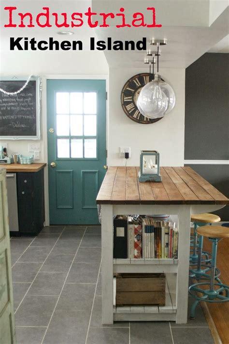 ideas  industrial kitchen island  pinterest wood kitchen island concrete