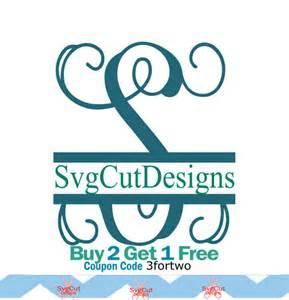 Split Letter Monogram SVG Files