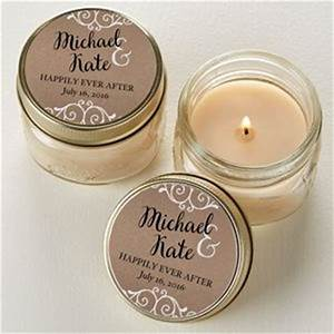 rustic chic wedding personalized mason jar candle favors With personalized candle wedding favors