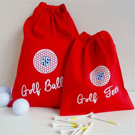 personalised golf ball bag  frozen fire