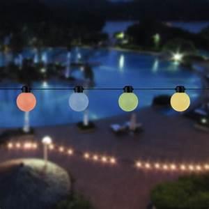 Guirlande Solaire Guinguette Boules Multicolores