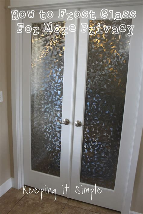 Bathroom Glass Door Cover by How To Glass With Vinyl For More Privacy Keeping