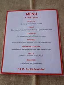 Italian Dinner Party Menu Ideas
