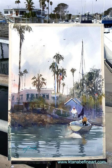 oceanside yacht club san diego california watercolor en