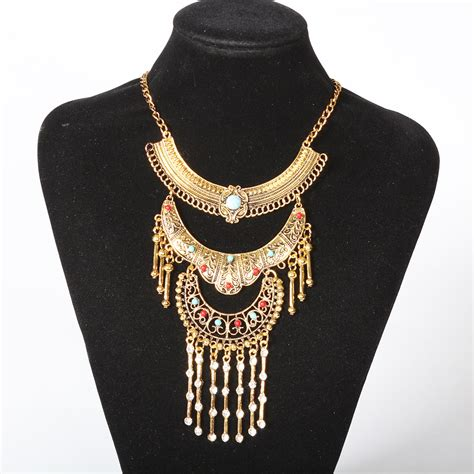 fashion maxi statement necklace pendant women