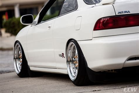 white acura integra type r ccw lm5t forged wheels