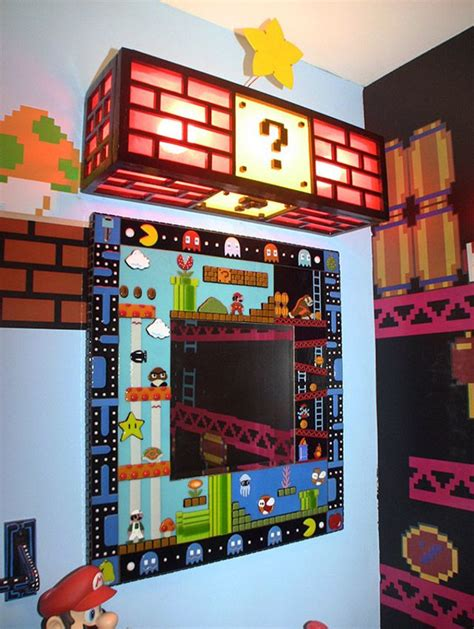 Vintage Game Themed Bathroom I Think The Mirror Is Pretty
