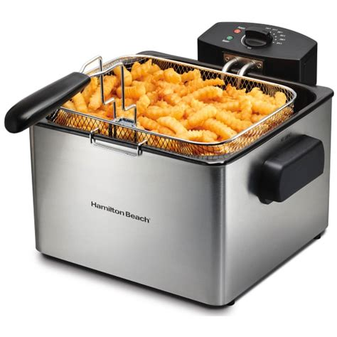 fryer deep hamilton beach professional baskets walmart