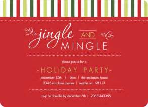 Christmas Holiday Party Invitation Wording