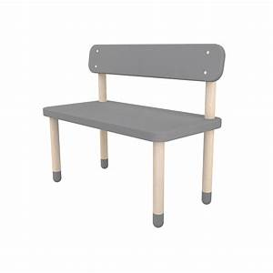 banc enfant avec dossier gris flexa play pour chambre With tapis chambre enfant avec banc canapé